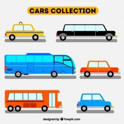 Flat pack of different vehicles