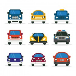 Flat vehicle vector pictures