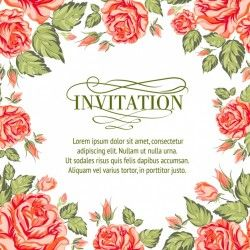 Floral invitation design