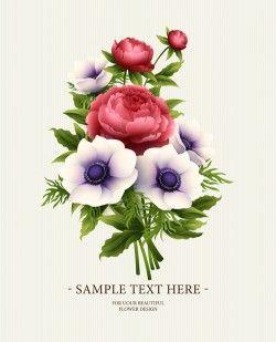 Flower design vintage invitations card vector 03
