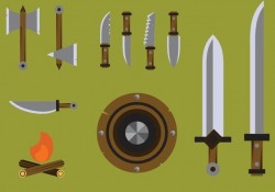 Free Barbarian Weapons Vector