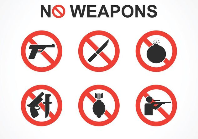 Free No Weapons Vector Signs