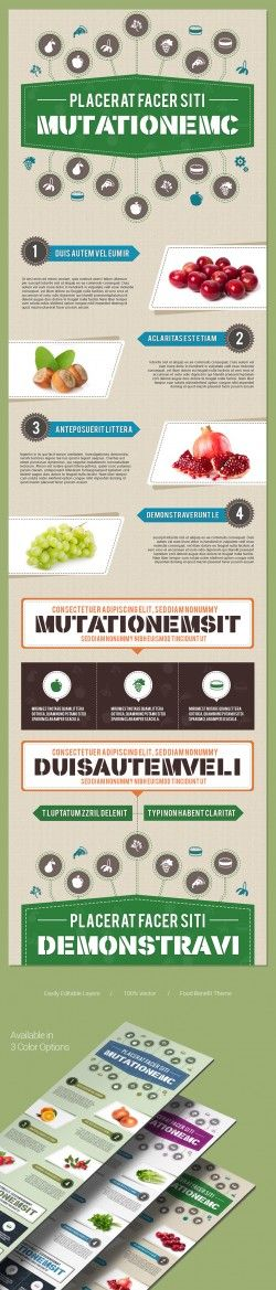Free PSD InfographicsTemplate in food theme | ZippyPixels