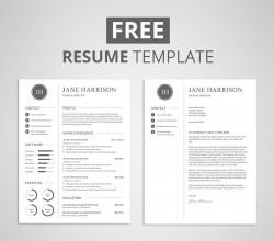 Free Resume Template and Cover Letter – Graphicadi