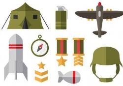 Free World War 2 Flat Icons