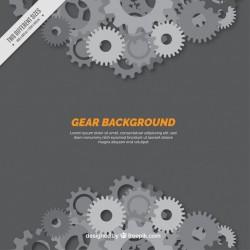 Gear background in grey tones