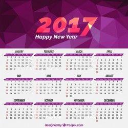 2017 geometrical calendar