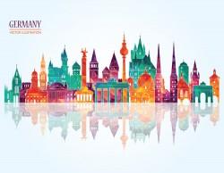 German city illustration vector