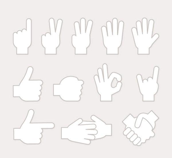 Gesture white design vector