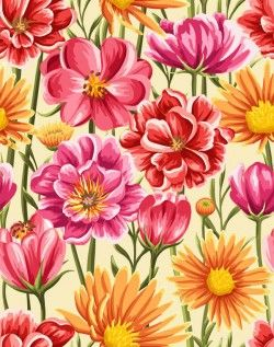 Gorgeous floral seamless background vector pictures
