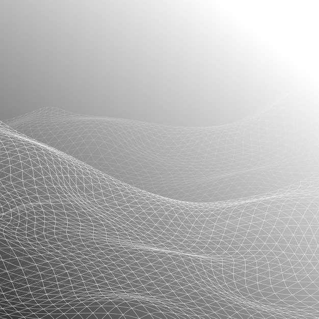 Gray background, geometric shapes