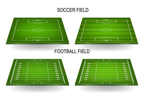 Green football field vector design 01