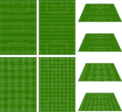 Green football field vector design 03