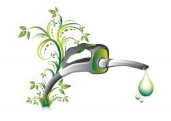 Green fuel pump nozzle vector