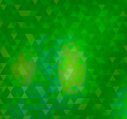 Green Triangle spell grid background vector pictures