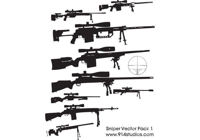 Gun Vector Sniper Rifle Pack