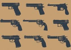 Handgun Pictogram Free Vector Download