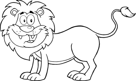 Happy Lion coloring page   Free Printable Coloring Pages