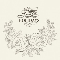 Holidays floral background