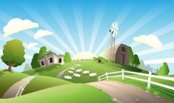 Housing grassland landscape