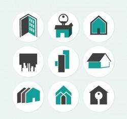 Housing sticker icon vector