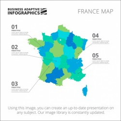 France Infographic template design