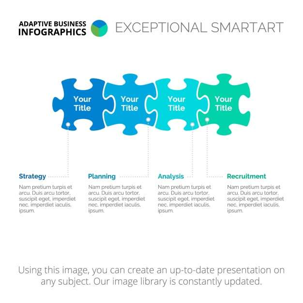 Puzzle Infographic template design