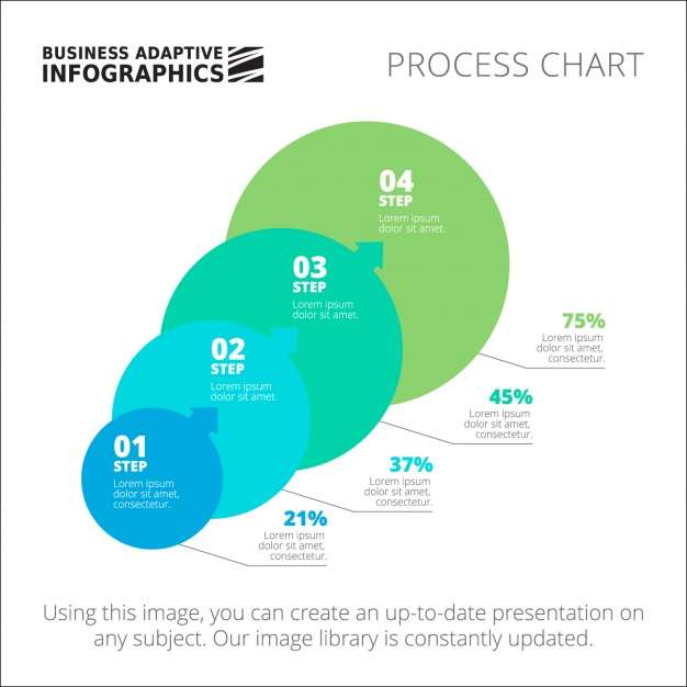 Circle Infographic template design