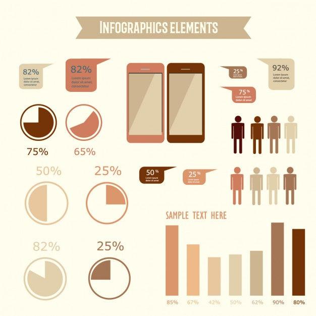 Infographics with warm tones