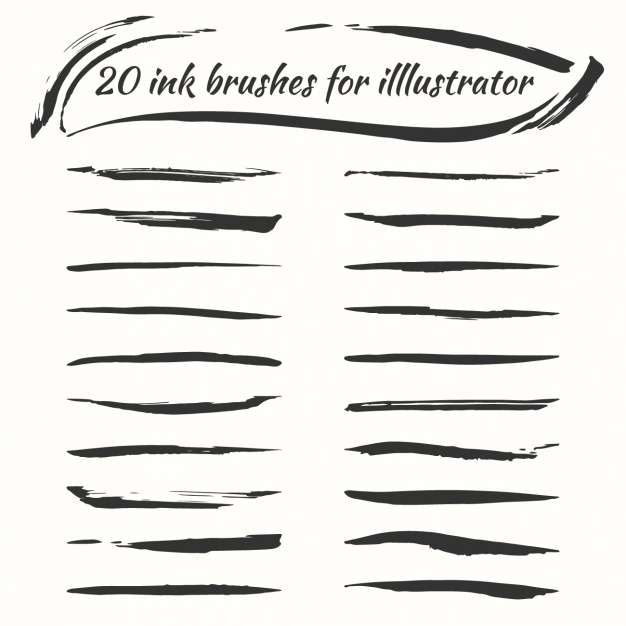 Ink brushes collection