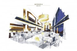 Interior design watercolor vector pictures