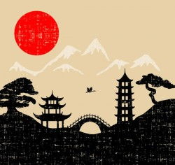 Japanese-style illustrator vector pictures