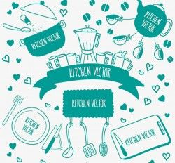 Kitchen label vector pictures
