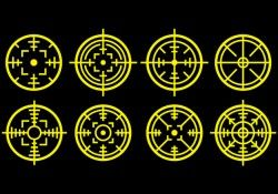 Laser Tag Icons Free Vector