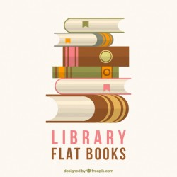 Library book background