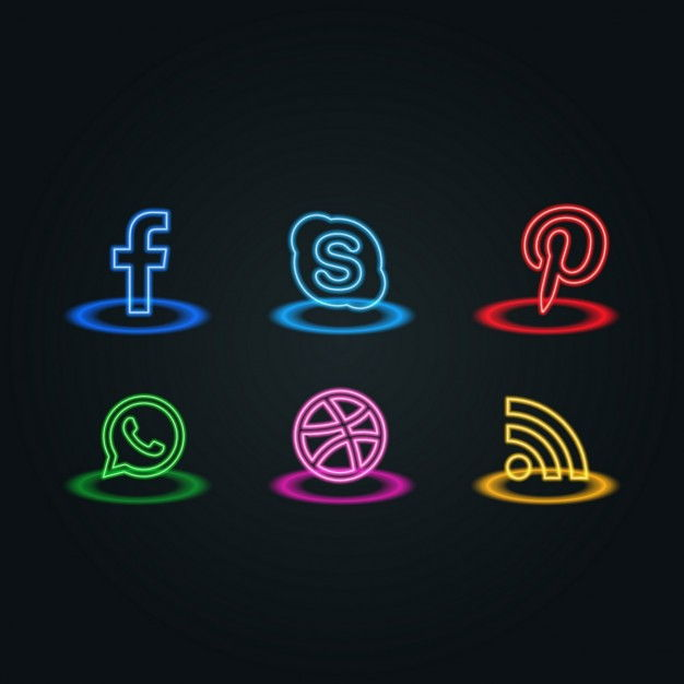 Light icons, social networks
