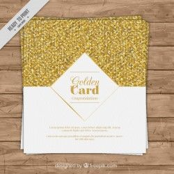 Luxurious card with golden confetti