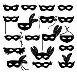 Mask silhouette vector