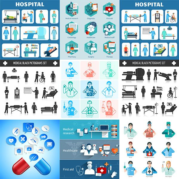 Medical element icon vector