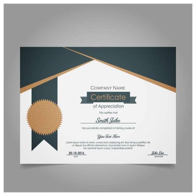Modern certificate of appreciation