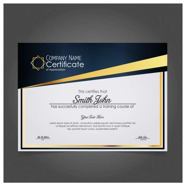 Modern company certificate of appreciation