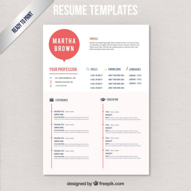 Modern resume template Vector | Free Download
