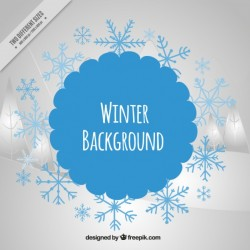 Modern winter background Vector | Free Download
