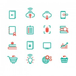 Network element icon vector