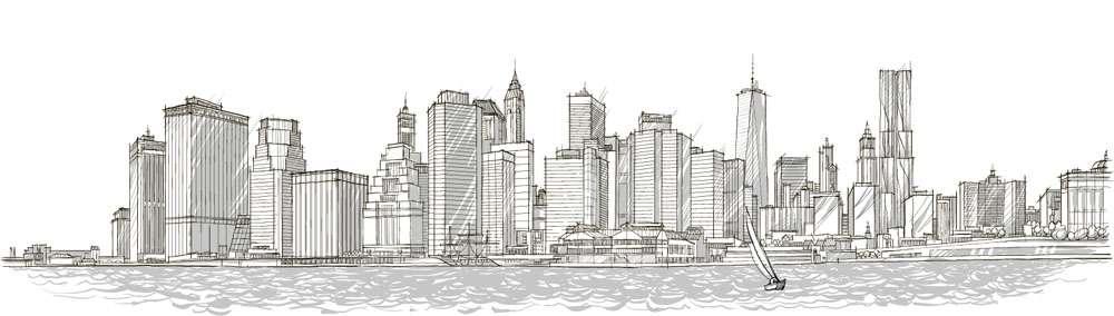 New York sketch illustration vector