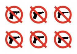 No Weapons Signs Free Vector