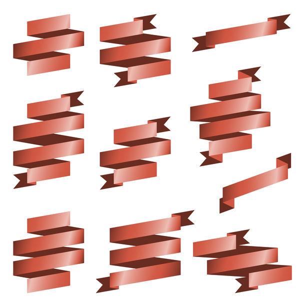Origami ribbon vectors material 03