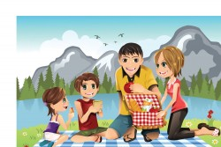 Outdoor picnic, a four vector