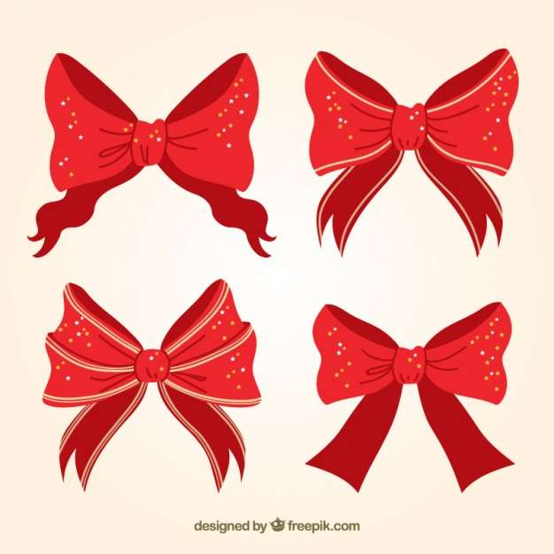 Pack of four decorative christmas bows