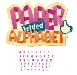 Paper folped alphabet